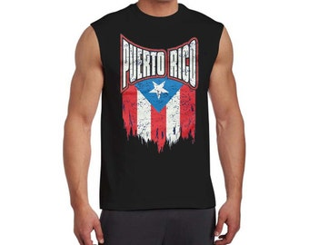 Puerto Rico Distressed Flag Graphic on  Tee Shirt T Shirt Puerto Rican Pride Shirt Gift Idea