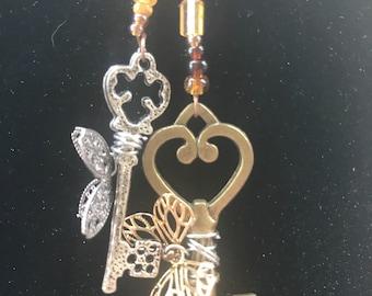 Flying Keys Necklace
