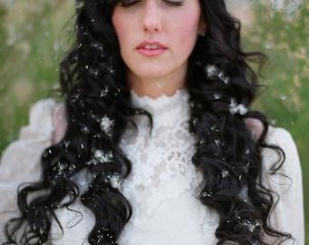Golden Leaf Bridal Headpiece crown halo head hair chain