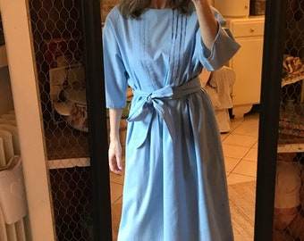 Dress mixed Blue Cotton 90 years