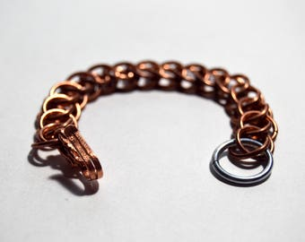 Small Copper and Steel 3 in 1 Half Persian Bracelet