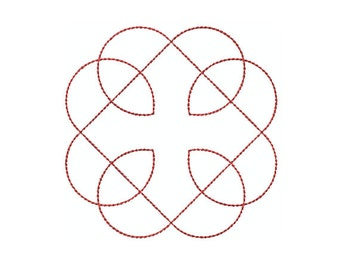 Machine Embroidery Design Instant Download - Celtic Knotwork Medallion 5 (single) Quilting Redwork