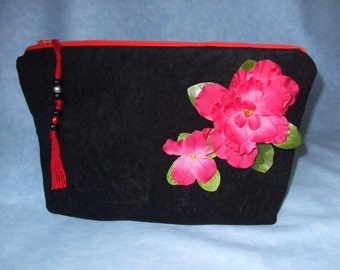 Bag - Black with Red Zipper