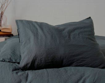Soft Linen Pillow cases different colors, 100% washed linen pillow cover, organic linen bedding, pillow case, pillow sham, pillow cover
