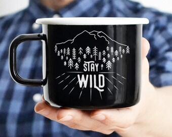 Camping Mug Travel Mug Enamel Mug Adventure Mug Mountain Mug Enamelware Camping Gift For Him Travel Gift Friend Gift Gift For Man Adventure