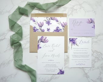 Flower Fields Wedding Invitation Suite
