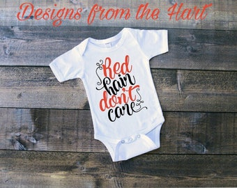 "Baby bodysuit ""Red hair Don't care"""
