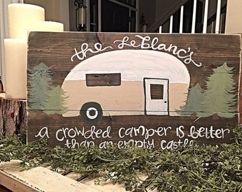 Vintage Camper | Airstream | Camping Sign | Rustic