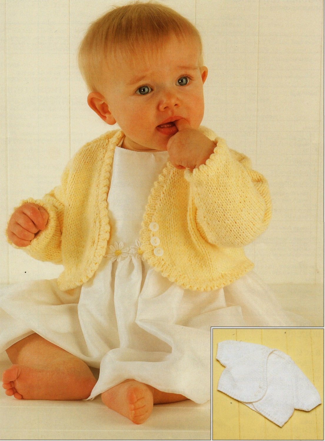 Baby Knitting Pattern Girls Knitting Pattern bolero baby bolero ...