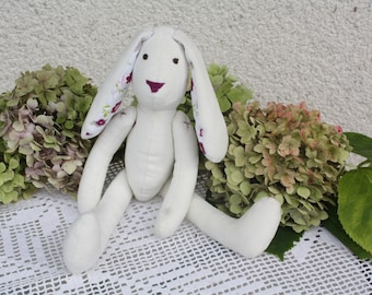 Handmade bunny rabbit doll, cute soft Easter bunny rabbit, softie ,plush bunny ,spring ,summer rabbit toy, gift for baby, lapin