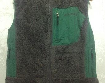 Columbia green vest / polyester / medium