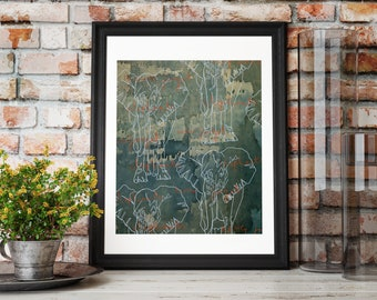 Elephants Never Forget Print. (Limited Edition)