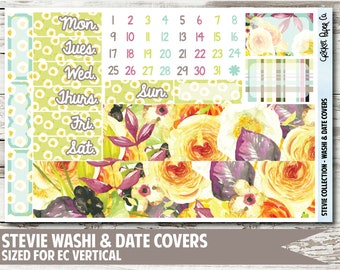 Stevie Date Covers & Washi Planner Stickers