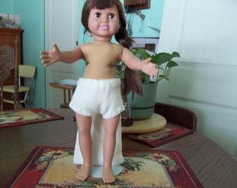 """Hand Knitted """"DOLL PANTIES"""" 18"""" Doll"""