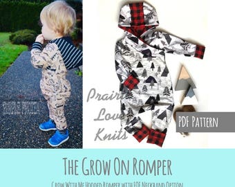 Apple Tree Grow On, Grow With Me Romper, Kids Sewing Pattern, Printable *PDF DOWNLOAD* Size Adjustable Clothing for Kids Apple Tree Patterns