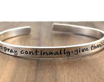 Sterling Silver Cuff Bracelet - New Years Resolution - 2018 resolutions  - Scripture Jewelry - Hand Stamped - 2018 Jewelry - custom