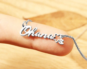 OHANA Mean Family Necklace, Ohana Necklace, Family Jewelry, Lilo and Stitch, Mother Gift, Best Friend Necklace, Mother Daughter Gift