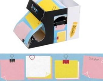 Sticky Notes - 1 box 50mm x 10m sticky note , i-marker, post-it, sticky memo, book marks, note