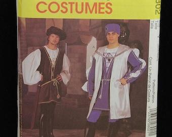 McCall's Costume Pattern 2802 Renaissance Tunic Leggings NEW Men S-M