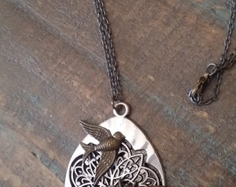 Bird Swallow in Flight Necklace