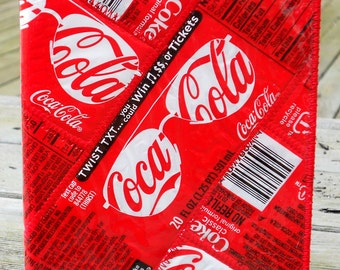 Passport Cover from Recycled Coca-Cola Bottle Labels