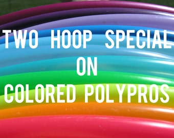 "Buy 2 Save 15% 3/4""  POLYPRO Doubles Dance & Exercise Hula Hoop COLLAPSIBLE push button"