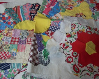 lovely pinwheel quilt pieces