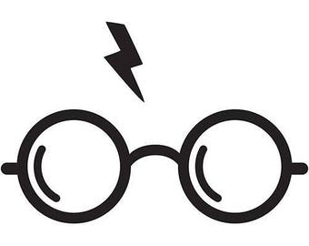 Harry Potter glasses and bolt on tank shirt