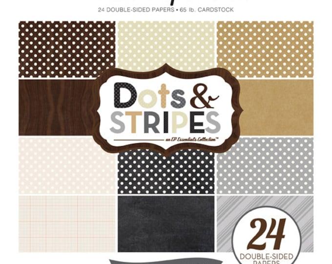 Echo Park Paper DOTS & STRIPES Neutrals 8x8 Scrapbook Paper Pad (DS15024)