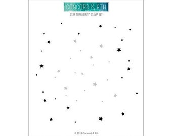 Concord and 9th - Clear Acrylic Stamps - Star Turnabout