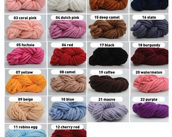 Super Bulky Acrylic Yarn (Roving thickness)