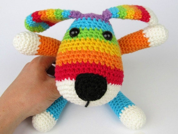 Amigurumi For Dummies Book : Rainbow puppy amigurumi crochet pattern pdf e book
