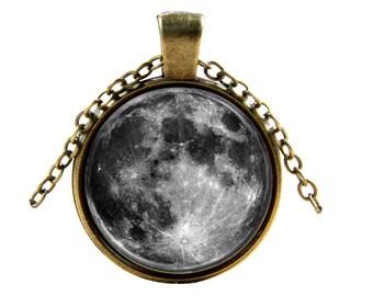 Lunar Meteorites Necklace-Moon Pendant- Elegant, Unique Space Jewelry Accessories
