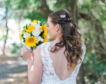 Starfish Wedding Hair Twists (Set of 6), starfish hair accessories, starfish hair clip, beach wedding pin, Christine Starfish Hair Pins