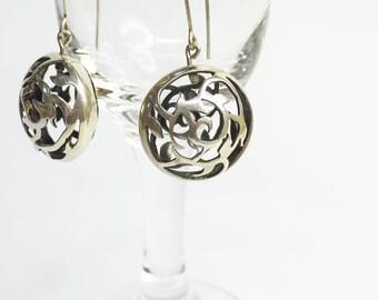 Hand-Pierced Sterling Silver Earrings
