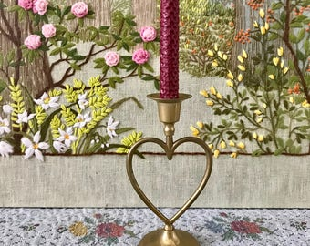 Heart Candleholder Brass Candlestick Holder Brass Candle Holder Brass Candleholder Brass Wedding Candles Heart Decor Love Decor Love Gifts