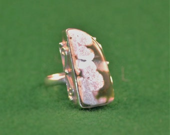 925 Silver and Ocean Jasper womans ring, size 6