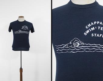 Vintage 70s Chappaqua T-shirt Swim Team Staff Super Soft Tee - XS / Small