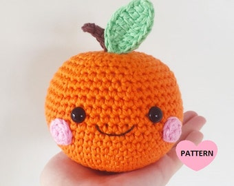 Orange PDF Pattern amigurumi crochet