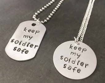 Army Couple Jewelry - Deployment Gifts - Keep My Soldier Safe - Christmas gifts for soldiers - Army Christmas gift - Army Wife - Army Couple