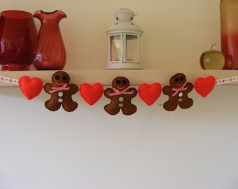 Felt Gingerbreadmen Garland