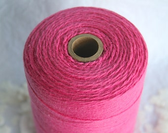25Y SOLID HOT PINK Cotton Twine