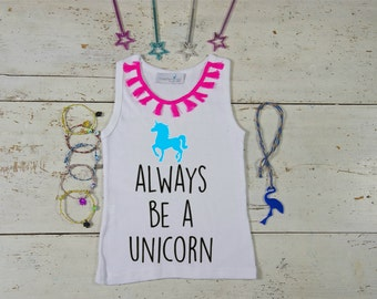 Unicorn Tshirt Girl, Unicorn Tshirt, Baby Unicorn, Girl Clothes, Always Be A Unicorn