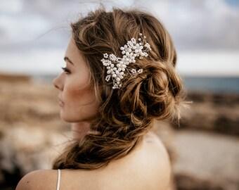 "Haarschmuck, Tiara, Gold Krone, Brautschmuck, Boho Haarband, Headpiece Style  ""Mara"""