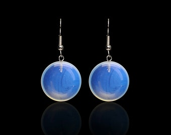 Enchanted moon stone Opal earrings