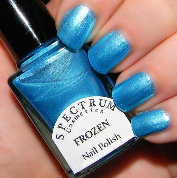 Blue Nail Polish Names: FROZEN Pearlescent Blue Nail Polish WINTER BLUES Collection