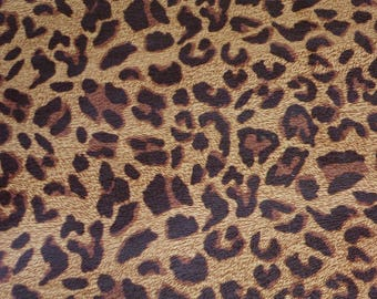 """Leather 8""""x10"""" BURNT UMBER Large Cheetah / Leopard Print Grain Not Hair On Cowhide 2.5-2.75oz / 1-1.1 mm PeggySueAlso™ E5000-03"""