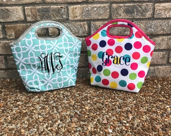 Personalized Lunch Tote // Monogrammed Lunch Tote // Lunch Bag // Insulated