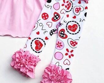 Valentine Icing Leggings- Sizes 9M to 10
