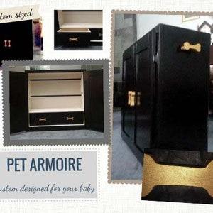 Pet Armoire, Pet Wardrobe, Custom Designed, Hand Painted, Dog Closet, Pet